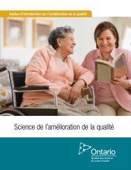 Science de l'amélioration de la qualité - Health Quality Ontario