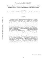 Theory of finite temperature crossovers near quantum critical points ...