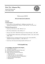 Gliederung FinVerf WS 09-10 - Institut für Steuerrecht - Universität ...