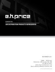 air distribution products represented - EH Price Edmonton