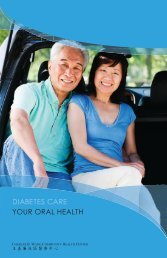 YOUR ORAL HEALTH DIABETES CARE - Charles B. Wang ...