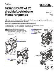 Bedienungsanleitung Verderair VA25 Kunststoff / Metall