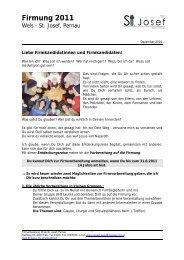 Anmeldung - Information (PDF, 370kb) - pfarre wels st.josef