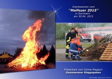 """Impressionen vom """"Maifeuer 2015"""" in Gommern"""