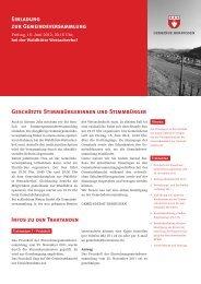 Einladung zur Gemeindeversammlung - Hornussen