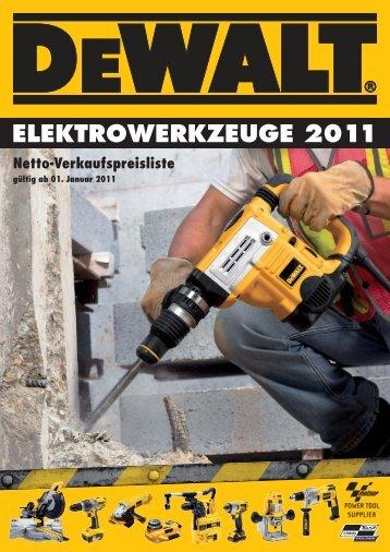 ELEKTROWERKZEUGE 2011 Netto ... - Technomag AG