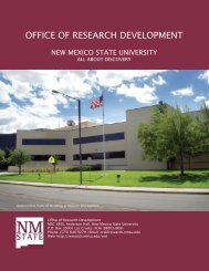 Dowload ORD Brochure (pdf) - Research - New Mexico State ...