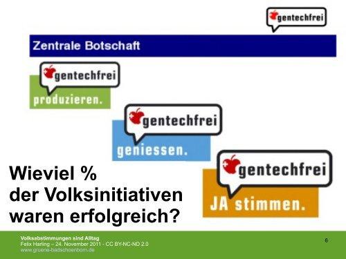 über die Erfahrungen der Schweiz mit der direkten Demokratie ...