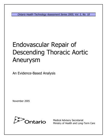 Endovascular Repair of Descending Thoracic Aortic Aneurysm