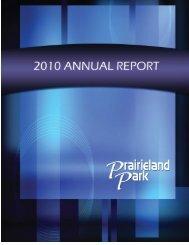 2010 Annual Report - Prairieland Park