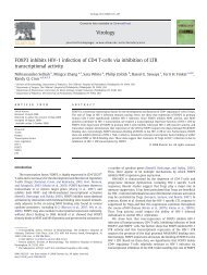 FOXP3 inhibits HIV-1 infection of CD4 T-cells via inhibition of LTR ...
