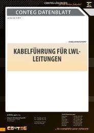 KABELFÜHRUNG FÜR LWL- LEITUNGEN - Conteg
