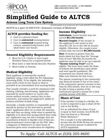 on altcs application form print version