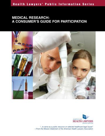 Medical Research: A Consumer's Guide for Participation