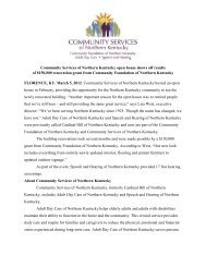 Community Services of Northern Kentucky open house ... - CFNKY