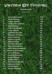 Gewinnerliste 1. Leon Kohmäscher 113 2 ... - SV Viktoria Gesmold eV