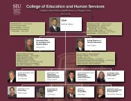 COEHS Organizational Chart - SIU - College of Education and ...