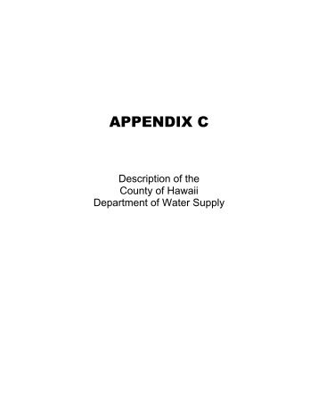 appendix c User note: about this appendix: appendix c focuses on the location and spacing of fire hydrants, which is important to the success of fire-fighting operations.