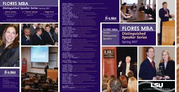 Program - EJ Ourso College of Business - Louisiana State University