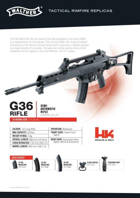 HK G36 Tactical Rimfire Replicas
