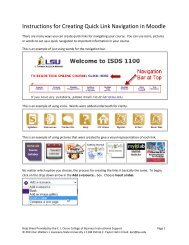 Instructions for Creating Quick Link Navigation in Moodle - EJ Ourso ...