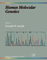 Methods in Molecular Genetics Human Molecular Genetics