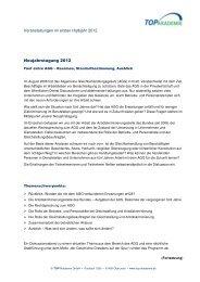 Veranstaltungen im ersten Halbjahr 2012 ... - TOP Akademie