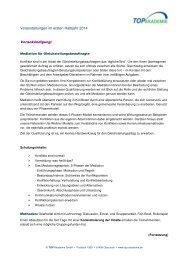 Veranstaltungen im ersten Halbjahr 2014 Vorankündigung: - TOP Akademie