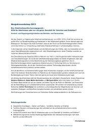 Veranstaltungen im ersten Halbjahr 2013 Neujahrsworkshop 2013 ...