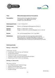 Titel: Mitbestimmungsrechte des Personalrats Veranstalter ...
