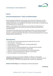 Veranstaltungen im ersten Halbjahr 2013 - TOP Akademie