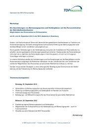 Netzwerk der BKK-Personalräte - TOP Akademie