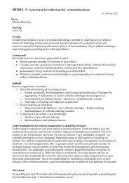 MODUL 3: Vurdering af dyrevelfærd på flok- og besætningsniveau ...