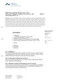 AARHUS UNIVERSITET DAGSORDEN - Science and Technology