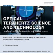 OPTICAL TERAHERTZ SCIENCE AND TECHNOLOGY