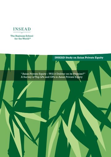 INSEAD Report on Asian Private Equity
