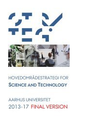 2013-17 final version - Science and Technology - Aarhus Universitet