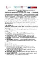 Collective Identity and Practices of Citizenship in Postcommunism ...