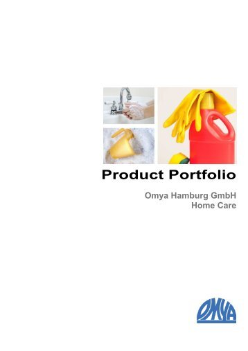 Product Portfolio Omya Hamburg Home Care - Omya Hamburg GmbH
