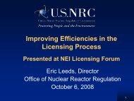 NEI Licensing Forum