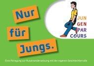 Begleitheft Jungenparcours - Fachstelle Jungenarbeit