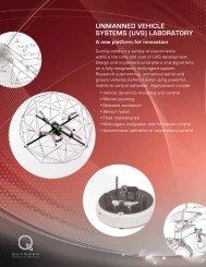 UNMANNED VEHICLE SYSTEMS (UVS) LABORATORY - Adaptech