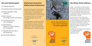 Die Aktion Sicher Klettern Kletterkurs besuchen! Kletterschein ...