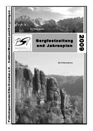 Jahresplan 2009 - PSV Elbe Dresden eV -Sektion Wandern und ...