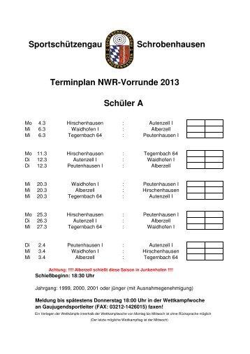 Terminplan - Sportschützengau Schrobenhausen