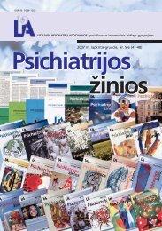 2007 m. lapkritis-gruodis, Nr. 5-6 (47-48) - Lietuvos psichiatrų ...