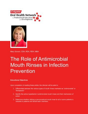 The Role of Antimicrobial Mouth Rinses in Infection Prevention