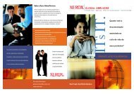 PRODUCT LIFECYCLE SERVICES Sobre a Xerox Global Services