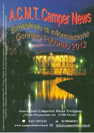 2012 gennaio - febbraio - Associazione Camperisti della marca ...