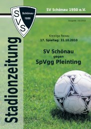 SpVgg Pleinting k - SV Schönau
